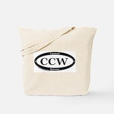 CCW Welcome, Black & White Tote Bag