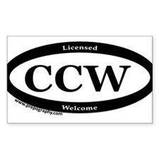 CCW Welcome, Black & White Decal