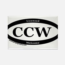 CCW Welcome, Black & White Rectangle Magnet