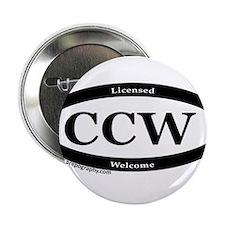 "CCW Welcome, Black & White 2.25"" Button"