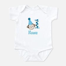 Monkey 1st Birthday Infant Add A Name Body Suit
