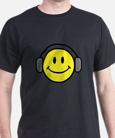 Smiley Face Music Lover T-Shirt
