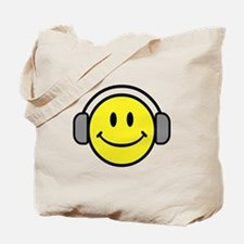 Smiley Face Music Lover Tote Bag
