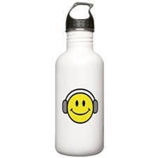 Smiley Face Music Lover Sports Water Bottle
