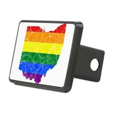 Ohio Rainbow Pride Flag And Map Hitch Cover