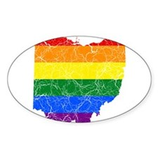 Ohio Rainbow Pride Flag And Map Decal