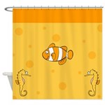 Fish Under The Sea Shower Curtain