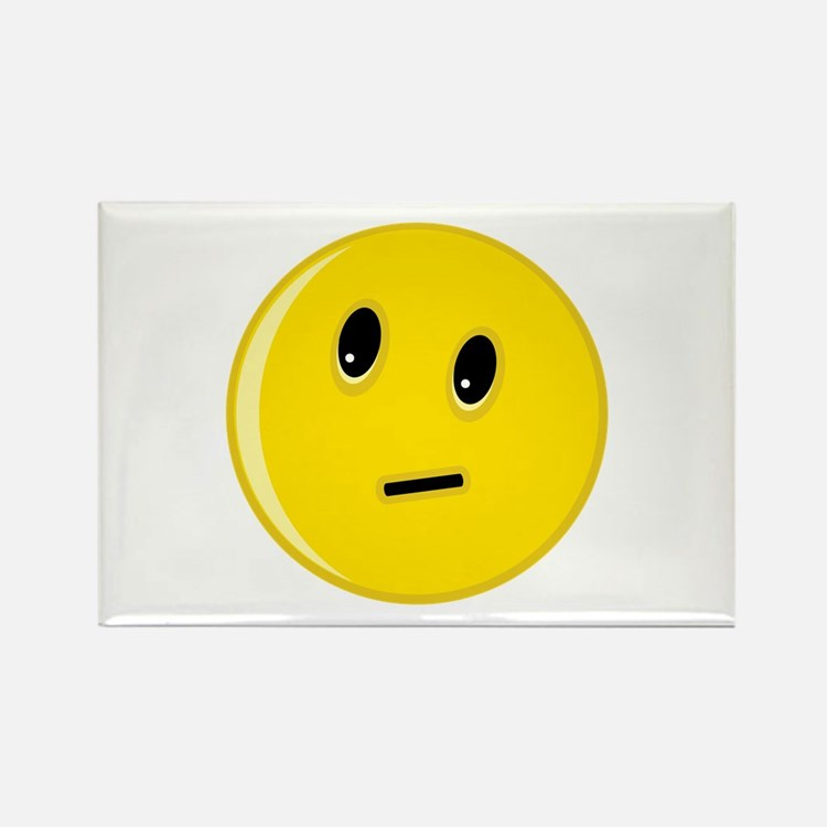 Smiley Face Rectangle Magnet