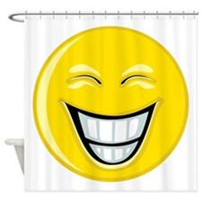 Smiley Face Grin Shower Curtain