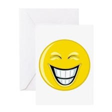 Smiley Face Grin Greeting Card