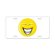 Smiley Face Grin Aluminum License Plate
