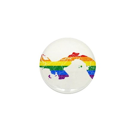 Panama Rainbow Pride Flag And Map Mini Button