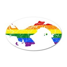Panama Rainbow Pride Flag And Map Wall Decal
