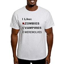 I Like Zombies T-Shirt