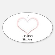 Boston Heart Oval Decal