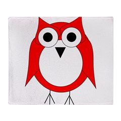 Red And White Owl Throw Blanket