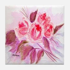 """Roses in Repose"" Tile Coaster"