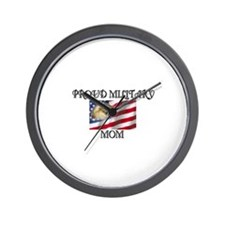 Proud Military Mom... Wall Clock