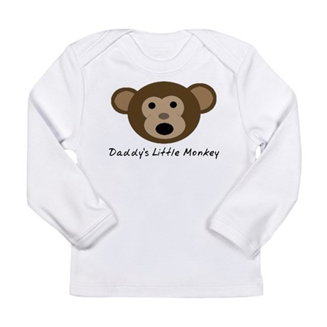 Daddy's Little Monkey Long Sleeve Infant T-Shirt