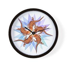 Bearded Dragon Star Wall Clock