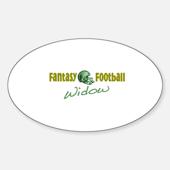 Fantasy Football Widow Oval Decal