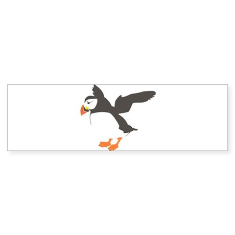Puffin with Wings Sticker (Bumper)