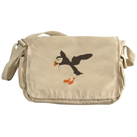 Puffin with Wings Messenger Bag
