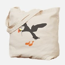 Puffin with Wings Tote Bag