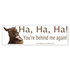 """""""Laughing Horse"""" Bumper Bumper Sticker"""