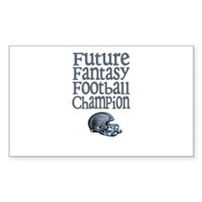 Future FF Champ (Blue) Rectangle Decal