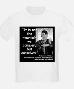 Hillary Conquer Quote 2 T-Shirt