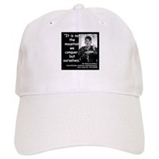 Hillary Conquer Quote 2 Baseball Cap
