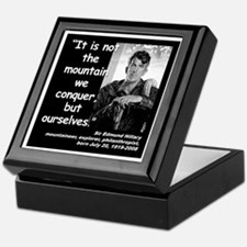 Hillary Conquer Quote 2 Keepsake Box