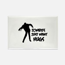 Zombies just want hugs Rectangle Magnet (10 pack)