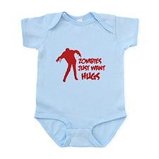 Zombies just want hugs Infant Bodysuit