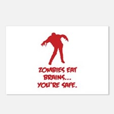 Zombies eat brains... You're safe. Postcards (Pack