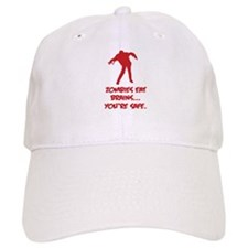 Zombies eat brains... You're safe. Baseball Cap