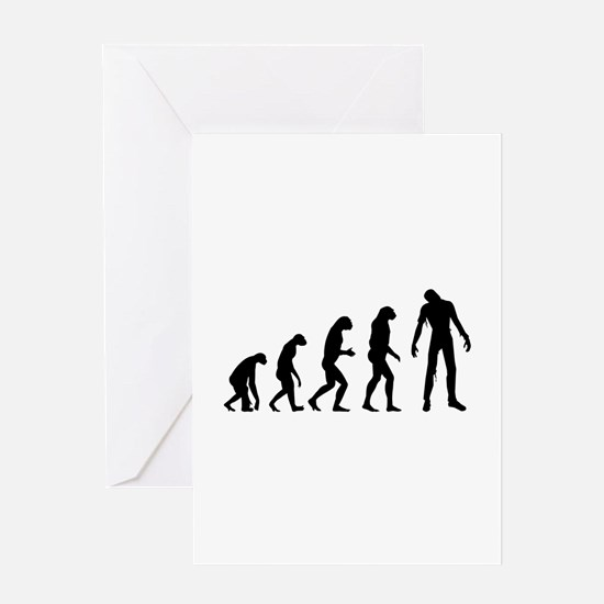 Evolution zombie Greeting Card