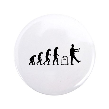 "Evolution zombie 3.5"" Button (100 pack)"