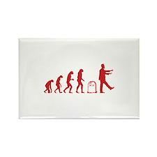 Evolution zombie Rectangle Magnet