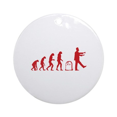 Evolution zombie Ornament (Round)
