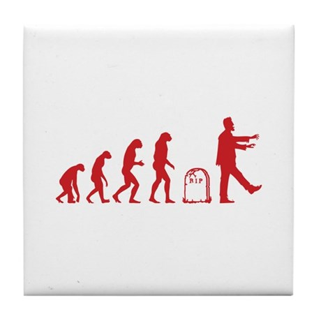 Evolution zombie Tile Coaster