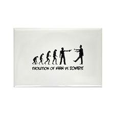 Evolution of man vs zombie Rectangle Magnet