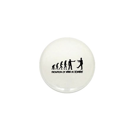 Evolution of man vs zombie Mini Button (10 pack)