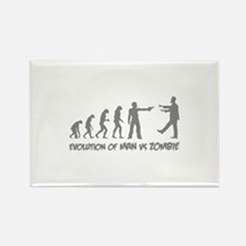 Evolution of man vs zombie Rectangle Magnet (10 pa