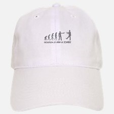Evolution of man vs zombie Baseball Baseball Cap