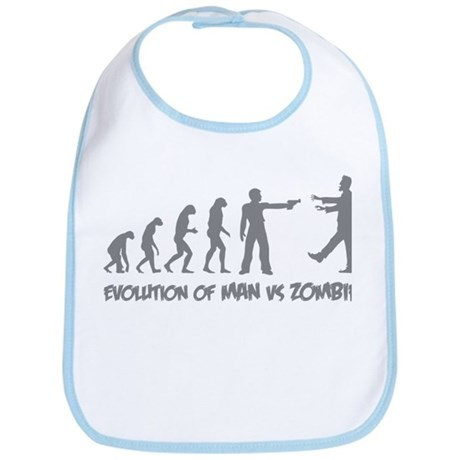 Evolution of man vs zombie Bib
