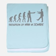 Evolution of man vs zombie baby blanket