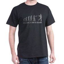 Evolution of man vs zombie T-Shirt