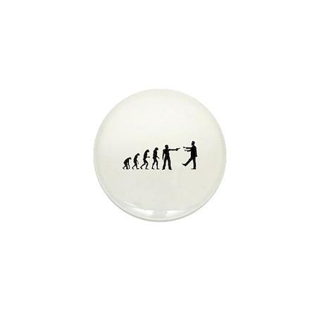 Evolution of man vs zombie Mini Button (10 pack)